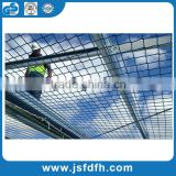 "40' x 2' BLACK SQUARE MESH NYLON NET POLYESTER MATERIAL SAFETY NETTING 2"" #18 BARRIER RAILINGS SAFETY NET"