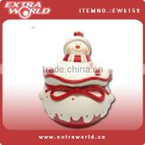 christmas snowman ceramic cookie jars with lids