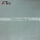 white croc pattern vinyl,leather product fabric with non-woven fabric for sofa covers material
