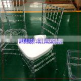 Transparent Crystal Clear Resin Plastic Event Rental Chiavari Chair