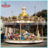 24 seats Merry go around,Happy Childhood Playground Equipment carrousel playing for children