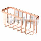 Rose Gold Kitchen Sink Suction Holder for Sponges, Scrubbers, Soap