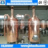 micro hotel/bar/pub Draught beer brewing equipment, beer line of capacity 200L brewery tanks