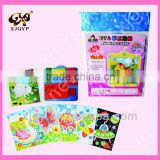 2016 New Popular DIY Handmade 3D Eva Mosaic Puzzle Sticker Self-adhesive Eva Crafts Learning Education Toys