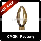 KYOK Aluminium alloy curtain rod finials,beautiful curtain tube and accessories,top quality curtain finials