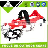 10 SPIKES Anti-slip Manganese Steel Climbing Ice Crampons For Boots