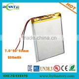 China manufacture 702025 high energy battery for beauty salon chair