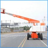 Cleaning building equipment32m working height platform, telescopic boom lift ,self-propelled hydraulic platform