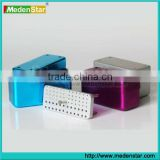 Most popular Aluminium disinfection box/dental burs holder with CE Approved