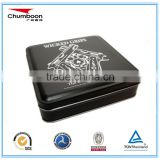 big square biscuit tin box / direct factory CMYK OEM metal box / christmas chocolate box