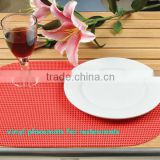 pvc table mat,vinyl placemats for restaurants