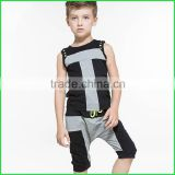 Wholesale custom kids vest or Children Summer Suit or Kids Summer Set and New Baby Clothing with round neck