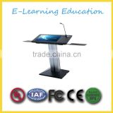 Aluminum digital podium/lectern with touch screen