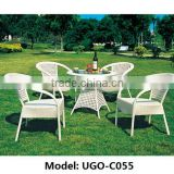 discount furniture rattan table and chair UGO-C055 hot sale UGO outdoor furniture