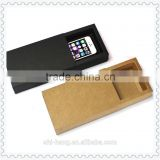 Quality brown black kraft paper drawer match sleeve type boxes packaging with client's logo printed