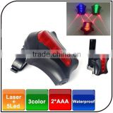 5Led High Light ABS Starfish Shape Waterproof 7 Flashlight Modes Led Bicycle Bike Laser Rear Light