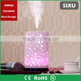 2016 design China factory ceramic material ultrasonic aroma diffuser humidifier with colorful lighting                                                                         Quality Choice