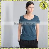 100% Cotton Scoop Neck Basic Tshirt With Cap Sleeves For Malaysia