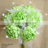 Foam loose peony artificial flowers bouquets with mesh for wedding bridesmaids