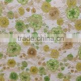 alibab china chemical foiled gold lace fabric for women garment