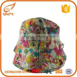 New fashion greek fisherman cap cotton funny printed bucket hats for girl                                                                                                         Supplier's Choice
