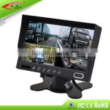 24 V auto mirror monitor with 7 inch screen,Bus monitor can display 4 images as the same time