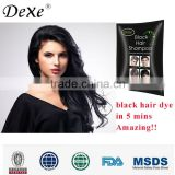 Dexe hair dye shampoo wholesale black hair productshome use convenient hair color manufacturer