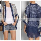 woman fashion bobe bjj kimono cardigan with lace back SYA15008