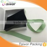 Black foam insert book shaped luxury cardboard packaging decorative boxes