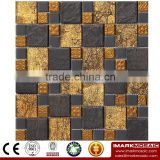 IMARK Electroplated Color Glass Mix Ceramic Mosaic Tiles (IXGC8-089) for back splash mosaic wall art
