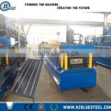 Perforated Metal Steel Aluminum Scaffold Sheet Board Plank Roll Forming Machine With Price , Scaffold Deck Plank Making Machine