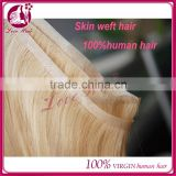 wholesale best quality double drawn indian remy tape hair extensions , remy skin weft/pu weft,