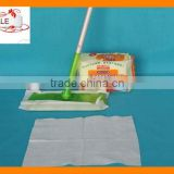 Disposable nonwoven static dry floor wipes for mops