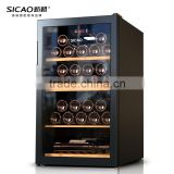 133L~490L 52~190 Bottles LED Temperature Control Compressor Wine Cellar With Glass Door Sicao Wine Cooler