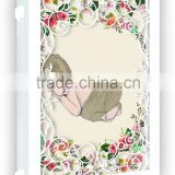 2015 new style paper laser cut baby new born birthday invitation card