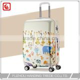 4 wheel hard plastic animal kid luggage , best hardside carry on luggage