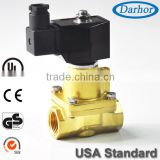 Piston Pilot Solenoid Valve for High Temp, hot water, Steam with low power connsumption