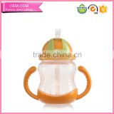 Export easy to grip plastic pp training drink straw bottle for baby child