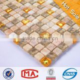 wave beige glass beautiful mosaic tiles mix stone glass mosaic tile shower floor mesh backed mosaic tiles