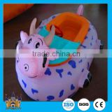 new style!! hot swimming pool inflatable water battery bumper boats rides amusement park equipment