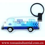 Environmental Custom Promotional gift Car Shape LED Squeeze Key lights soft pvc keychain