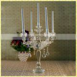 Handmade Exquisite Cheap Crystal Wholesale Candelabras Centerpieces For Wedding Table Decoration