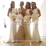 Wholesale Good Quality alibaba O neck white Ivory red pink Mermaid Long weddings Bridesmaid Evening Dresses LB55