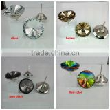 Glass crystal button for sofa decoration