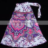 Black and White New Round Mandala Skirt Cotton Jaipuri Printed Boho Hippie Gypsy Wrap Around Skirt