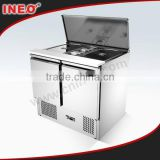 Commercial Stainless Steel Salad Refrigerated Counter/Refrigerated Counter/Refrigerated Bar Counter