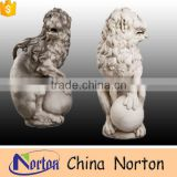 Sculpting marble doorway decoration lion stone sculpture NTBM-L005Y