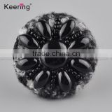 Hotsale black flower resin small size decorative buttons WBKA-289