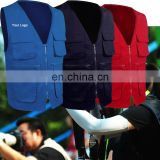 Quality Custom Printed or Embroidery sleeveless photographer vest jacket