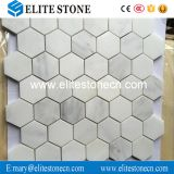 China Oriental White Marble Hexagon Mosaic For Bathroom Wall And Floor